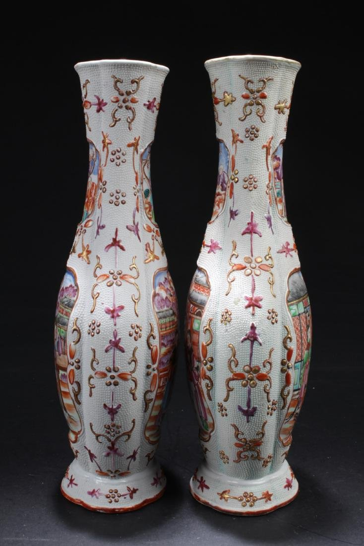 A Pair of Fine Antique Chinese Famille Rose Porcelain - 7