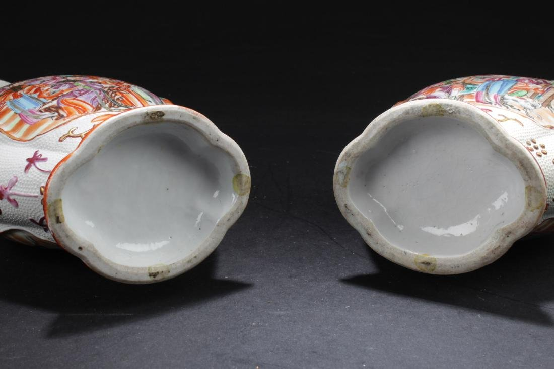 A Pair of Fine Antique Chinese Famille Rose Porcelain - 8