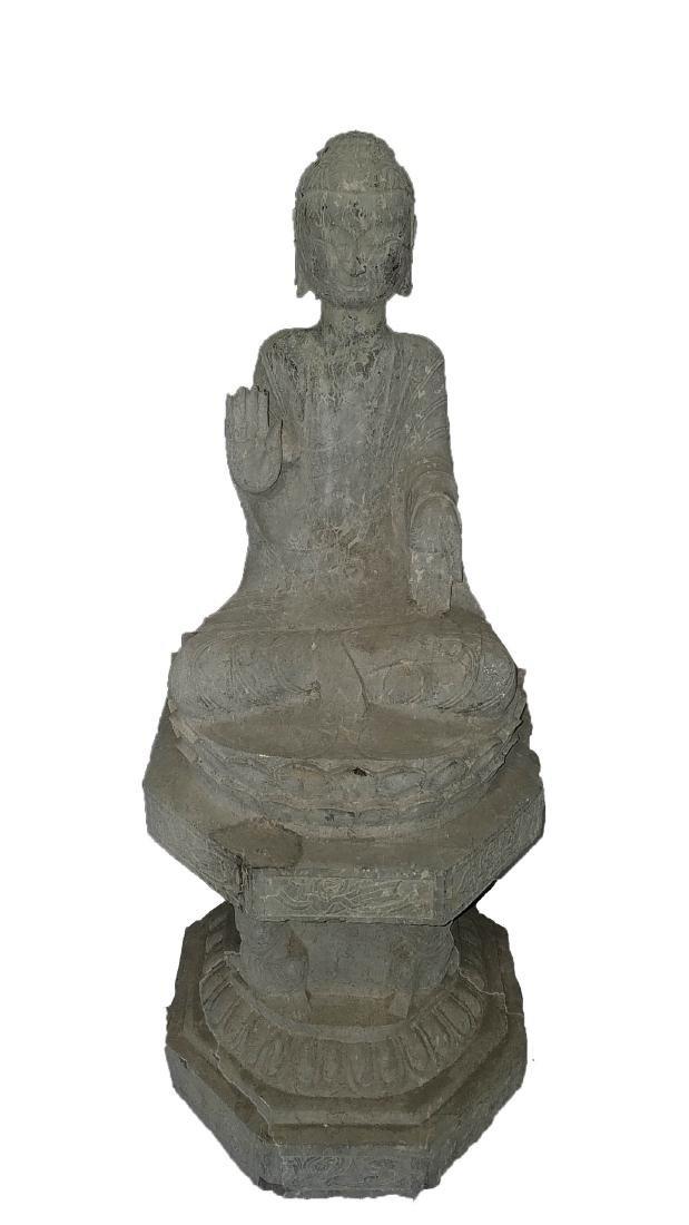 Chinese Stone Carved Buddha Statue