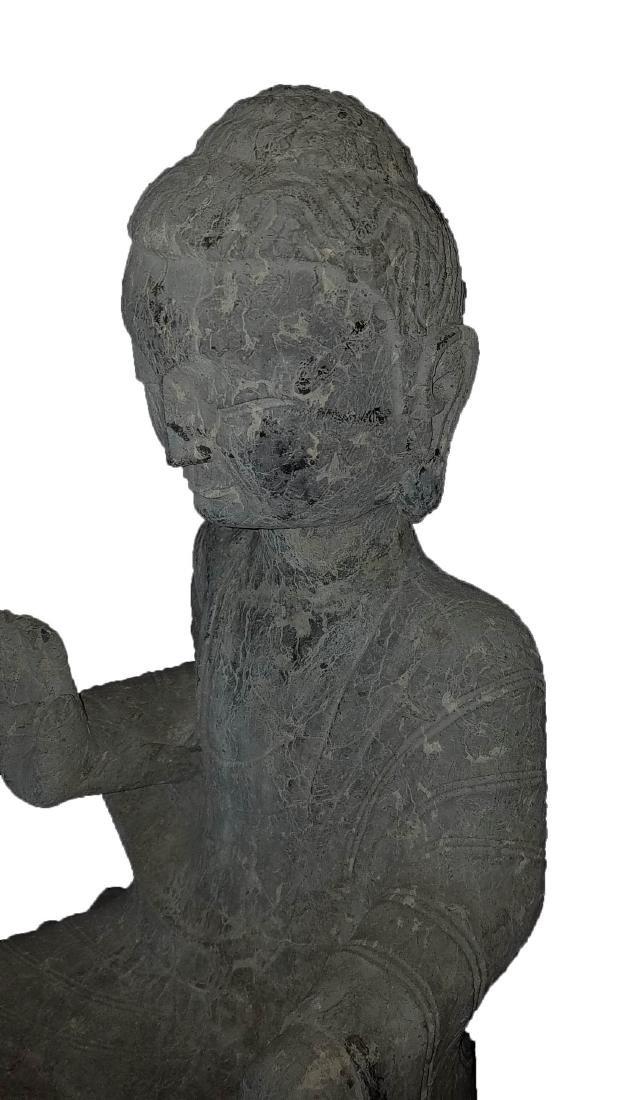 Chinese Stone Carved Buddha Statue - 3