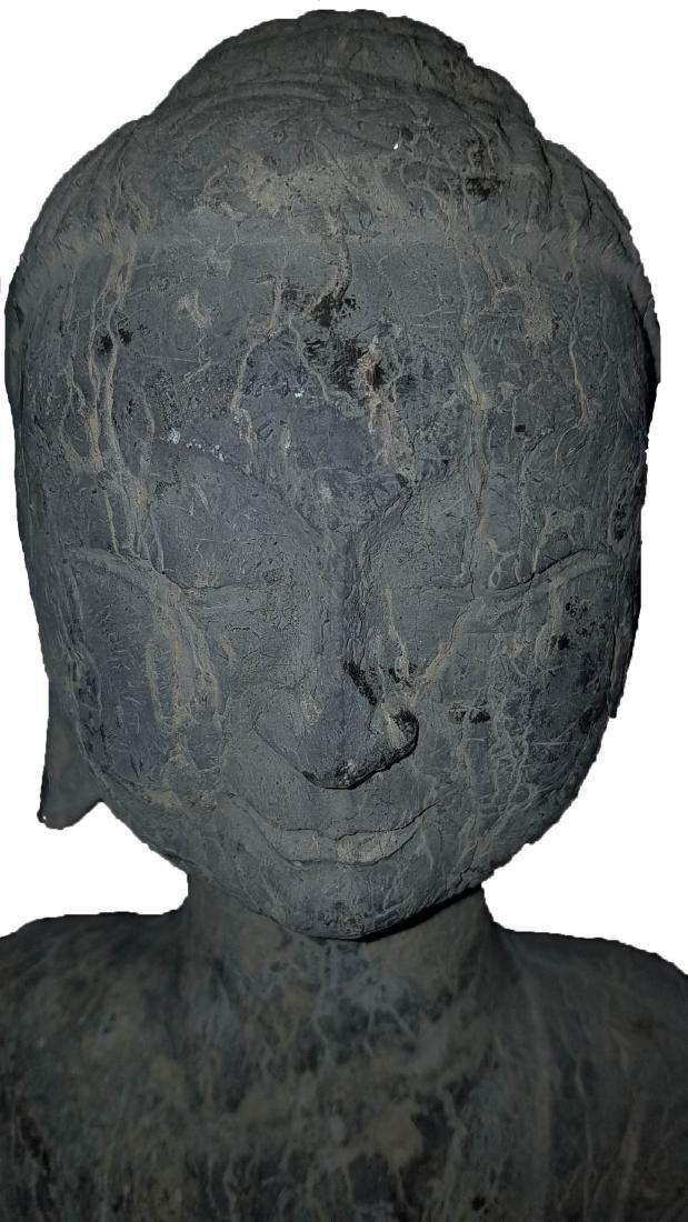 Chinese Stone Carved Buddha Statue - 4