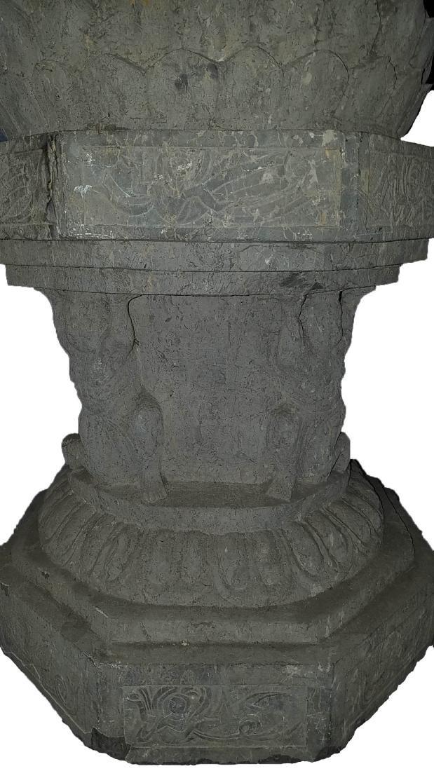 Chinese Stone Carved Buddha Statue - 5