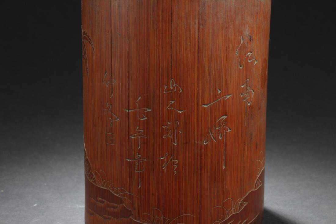 Chinese Bamboo Brushpot - 4