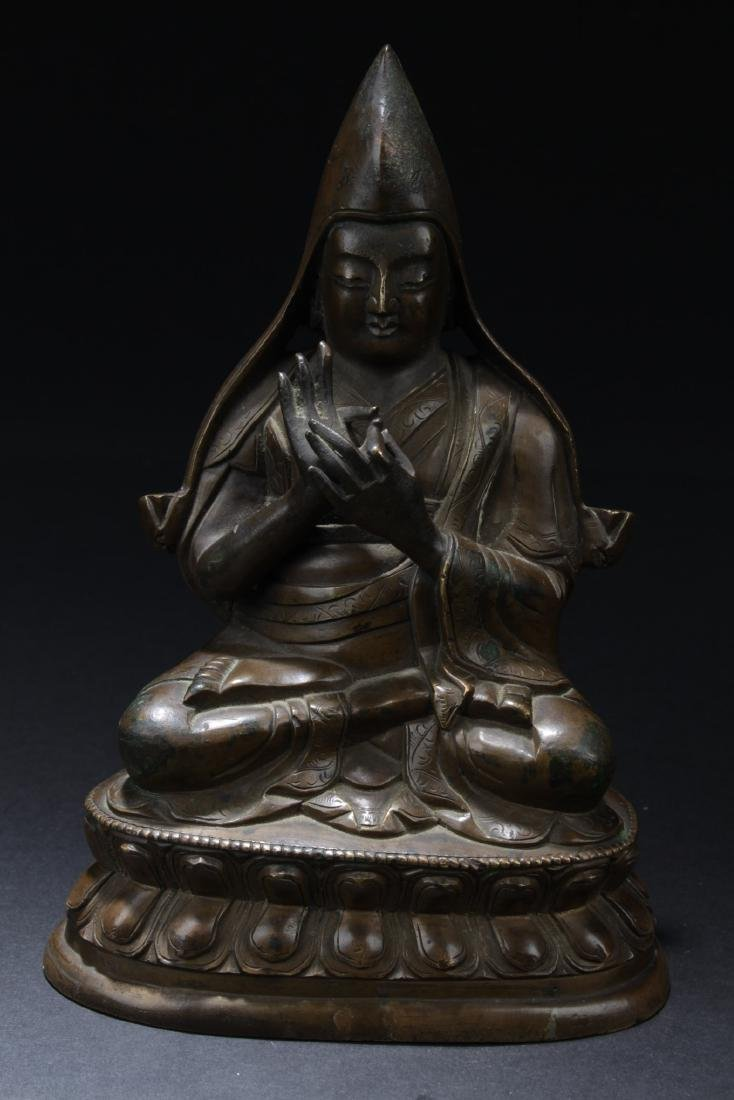 Antique Chinese Bronze Buddha Statue