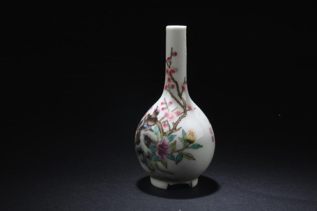 Chinese Blue & White Porcelain Plate & Porcelain Vase - 6
