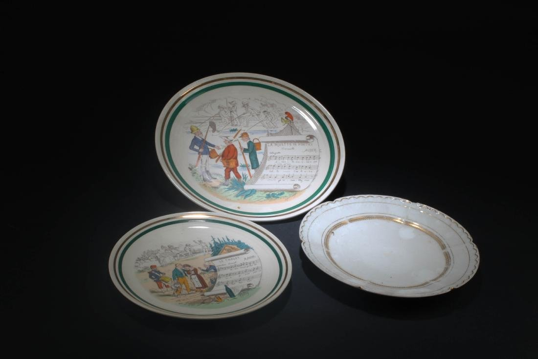 A Group of Three Porcelain Plates