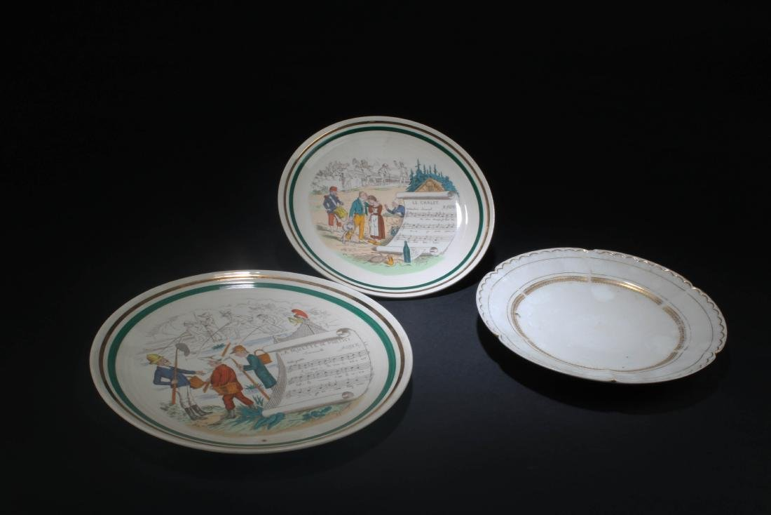 A Group of Three Porcelain Plates - 2