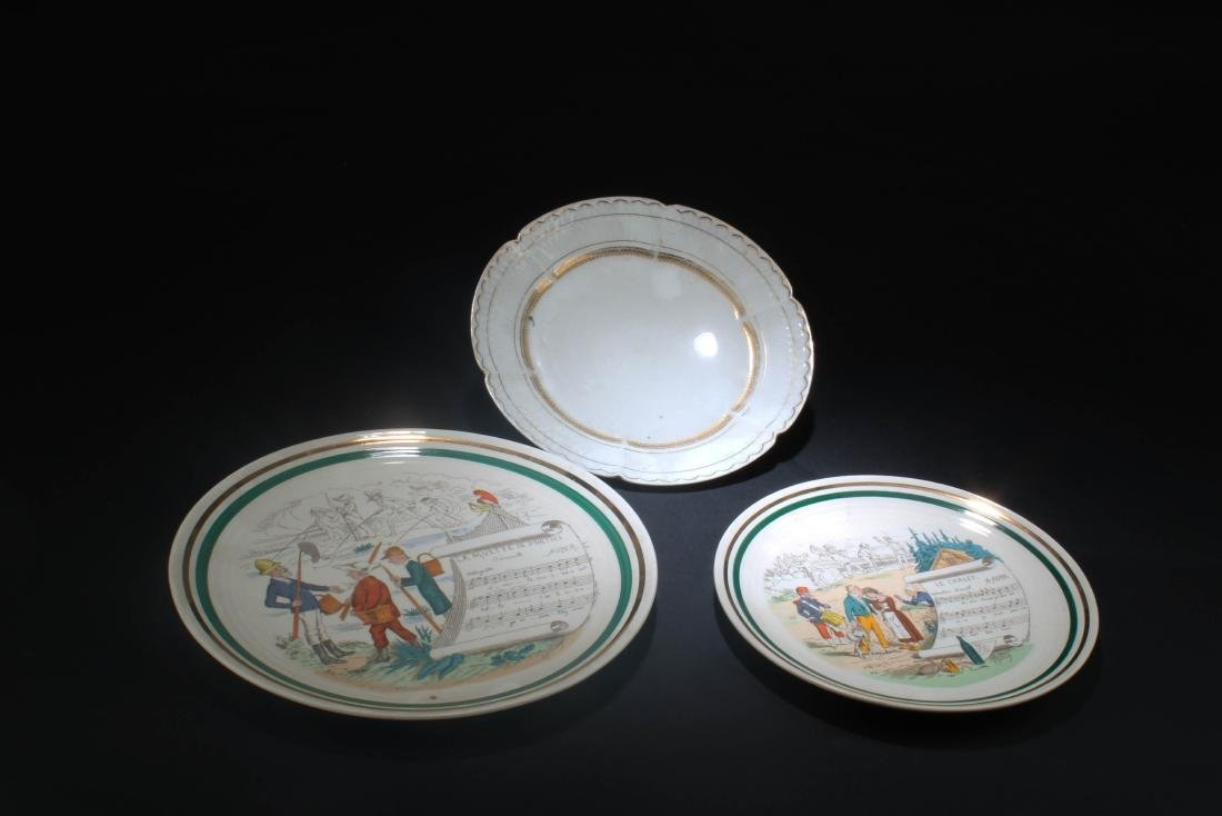 A Group of Three Porcelain Plates - 3