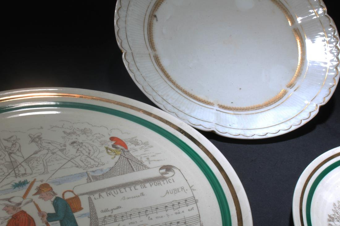 A Group of Three Porcelain Plates - 4