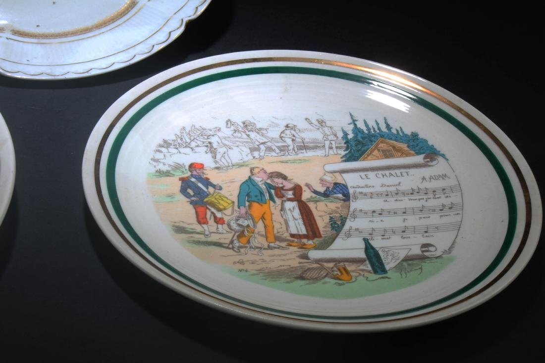 A Group of Three Porcelain Plates - 5