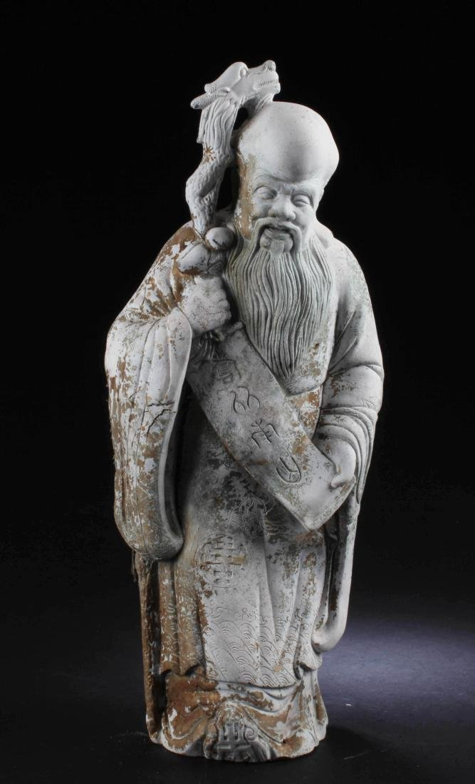 A Chinese Deity Statue
