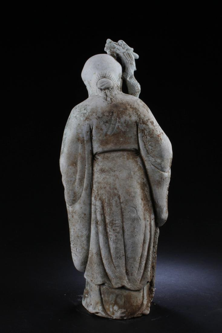 A Chinese Deity Statue - 3
