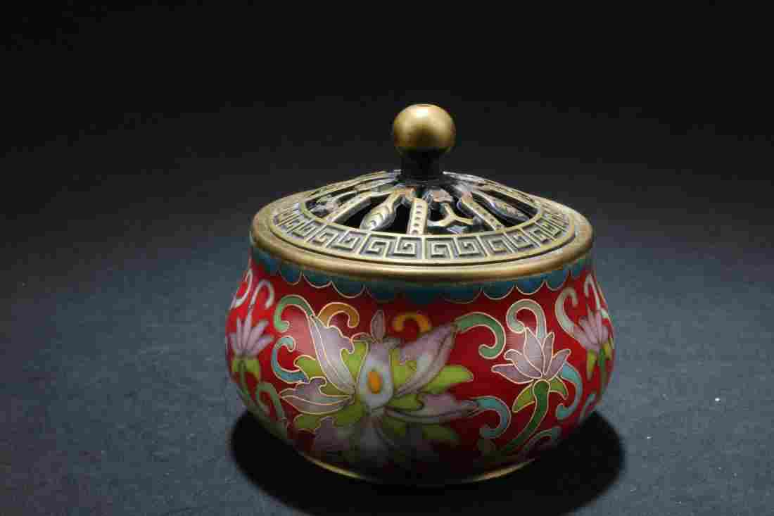 Chinese Cloisonne Hand Warmer