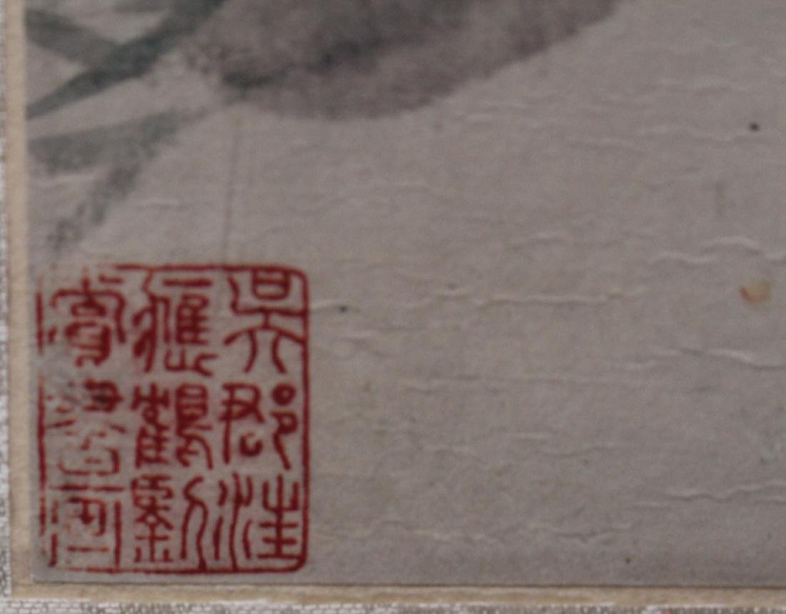 A Framed Chinese Painting - 4