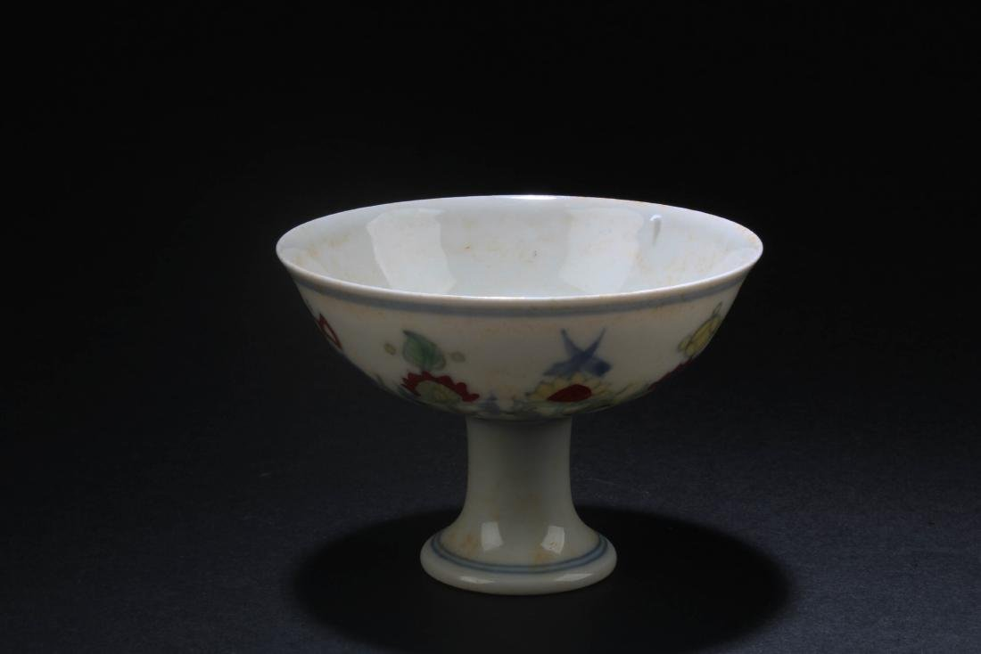 Chinese Porcelain Stem Cup