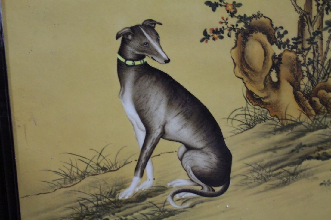 Chinese Hardwood Framed Porcelain Painting - 5