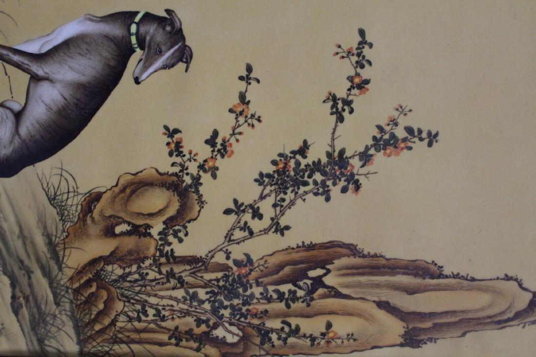 Chinese Hardwood Framed Porcelain Painting - 6