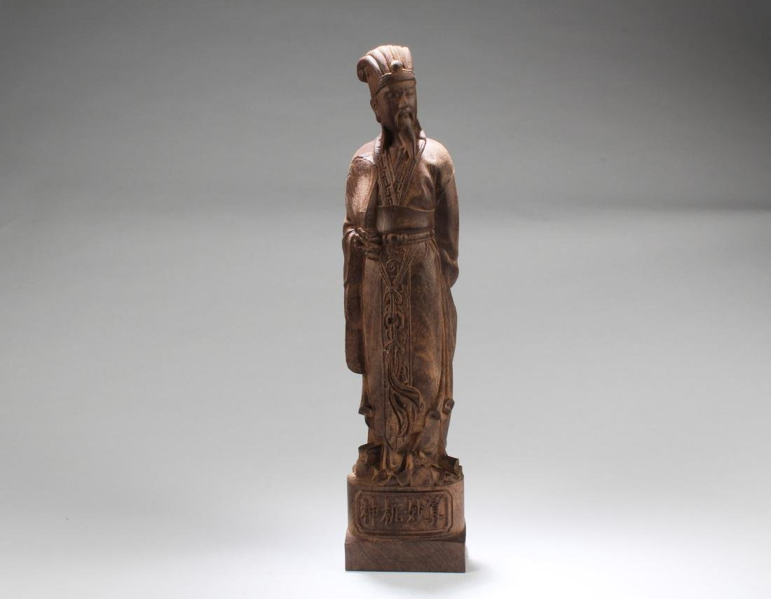 Chinese Hardwood Carved  Statue