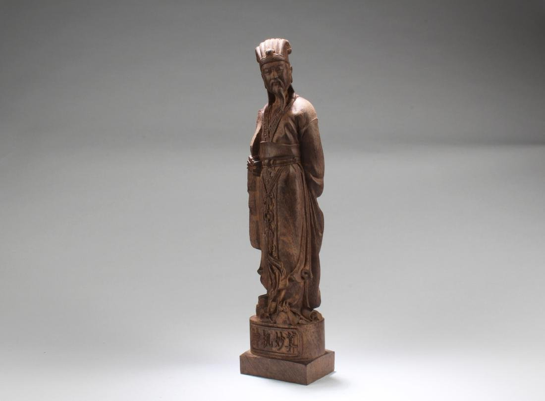 Chinese Hardwood Carved  Statue - 2