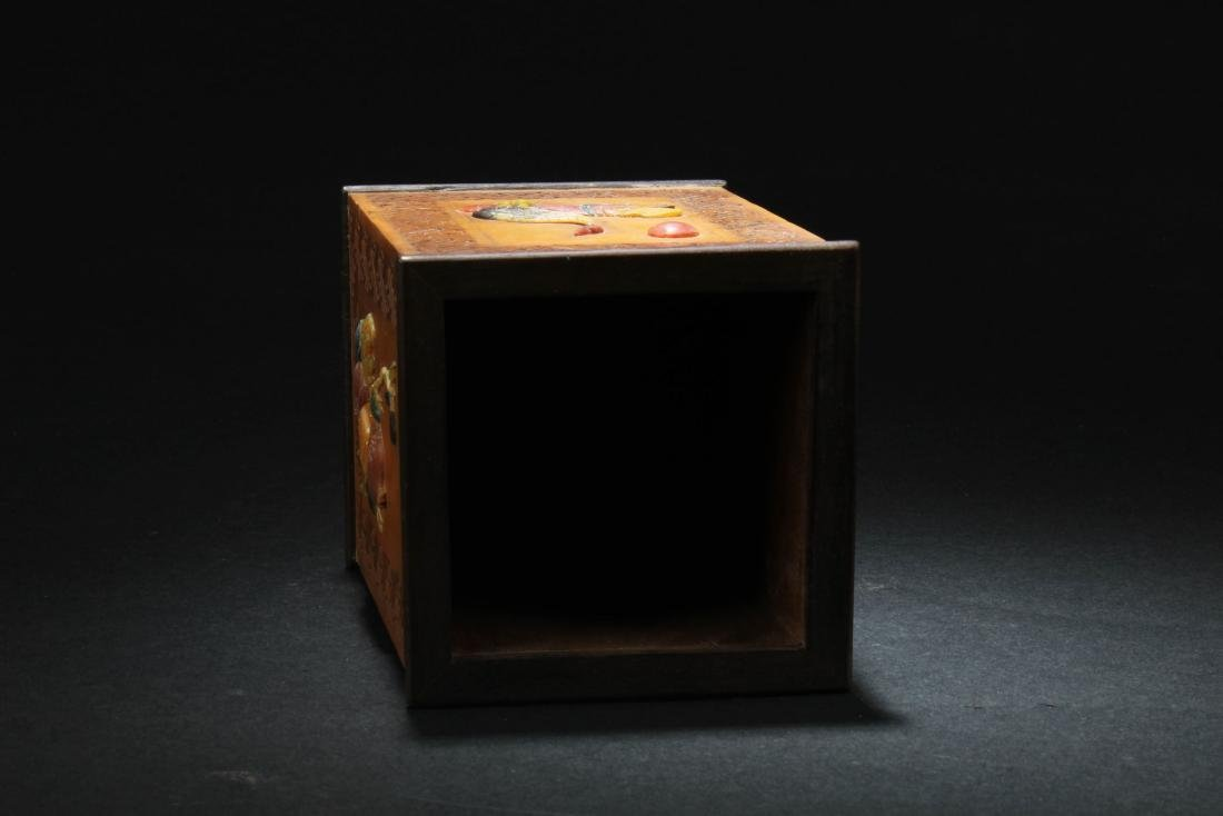 Chinese HuangYangMu with Mother Pearl Inlay Brushpot - 4