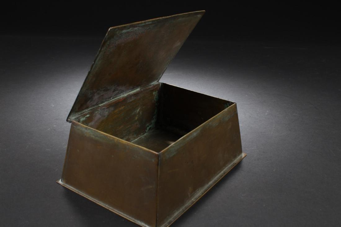 Antique Chinese Bronze Box - 4