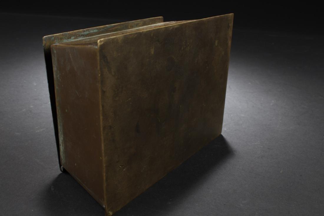 Antique Chinese Bronze Box - 5