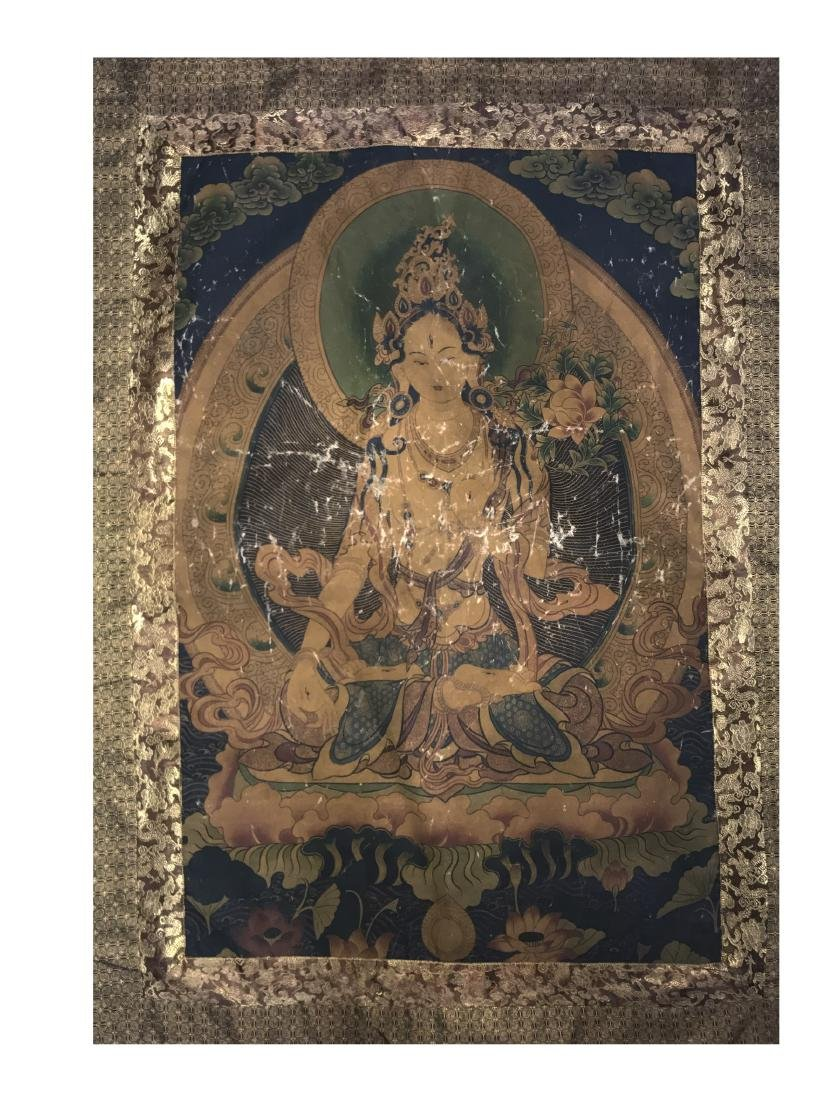 Antique Chinese Thangka