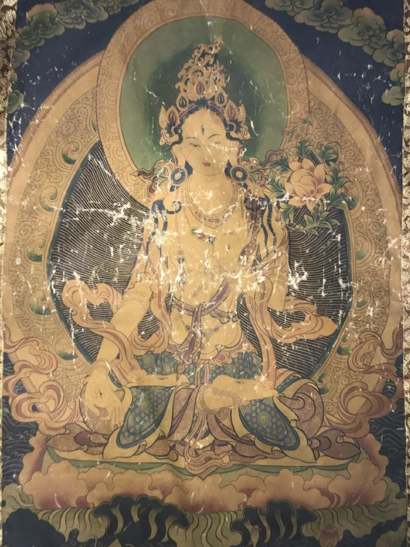 Antique Chinese Thangka - 2