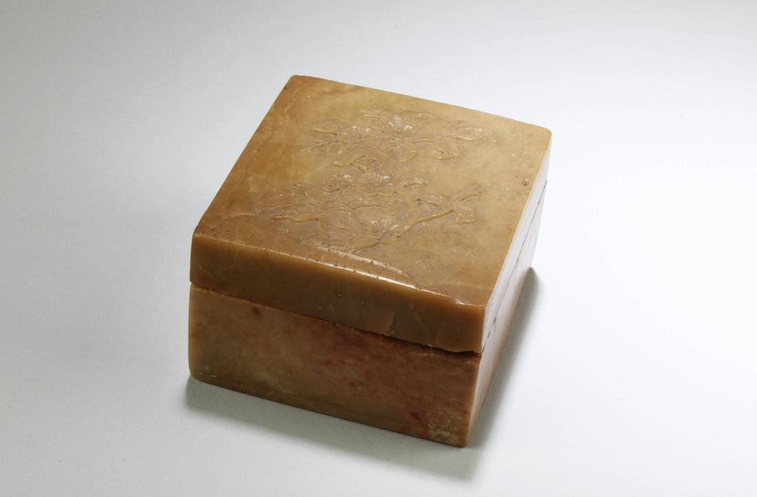 Antique Chinese Soapstone Box