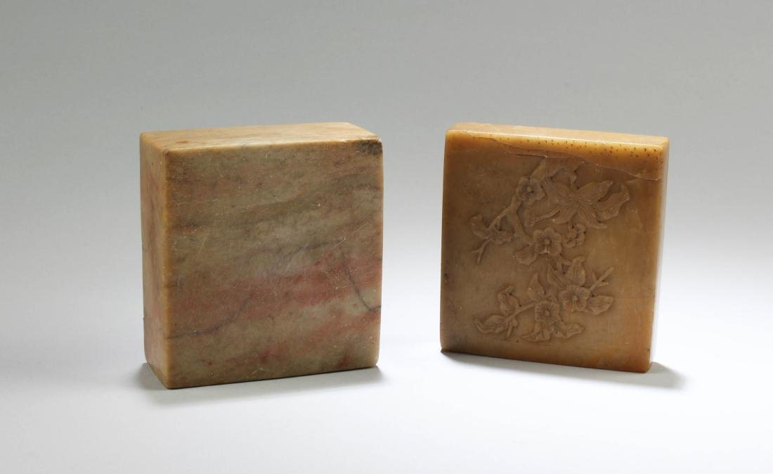 Antique Chinese Soapstone Box - 4