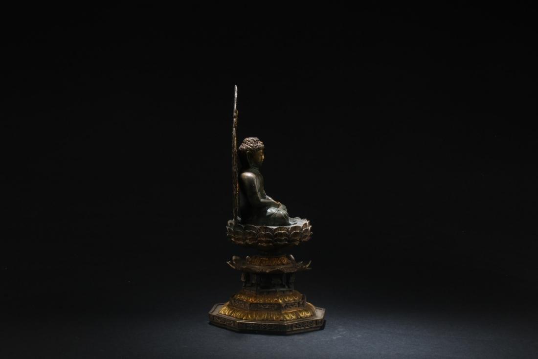 Chinese Gilt Bronze Buddha Statue - 5
