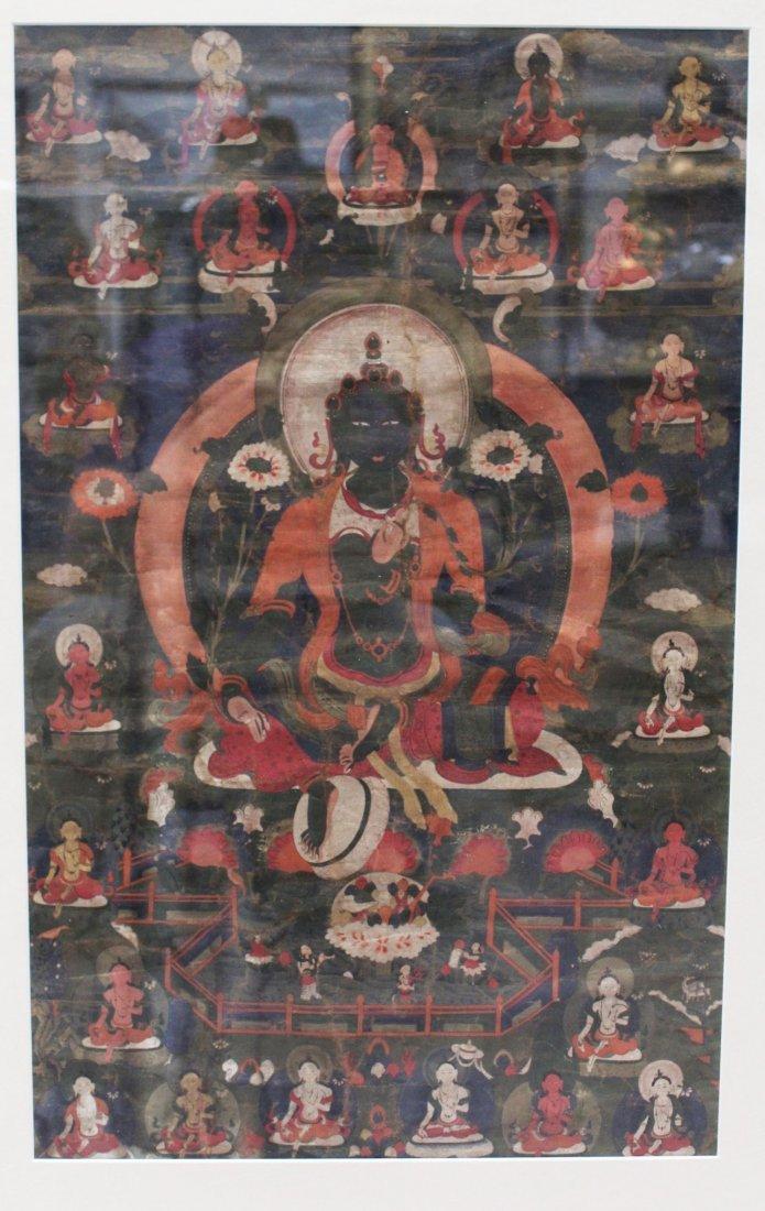 A Framed Tibetan Thangka