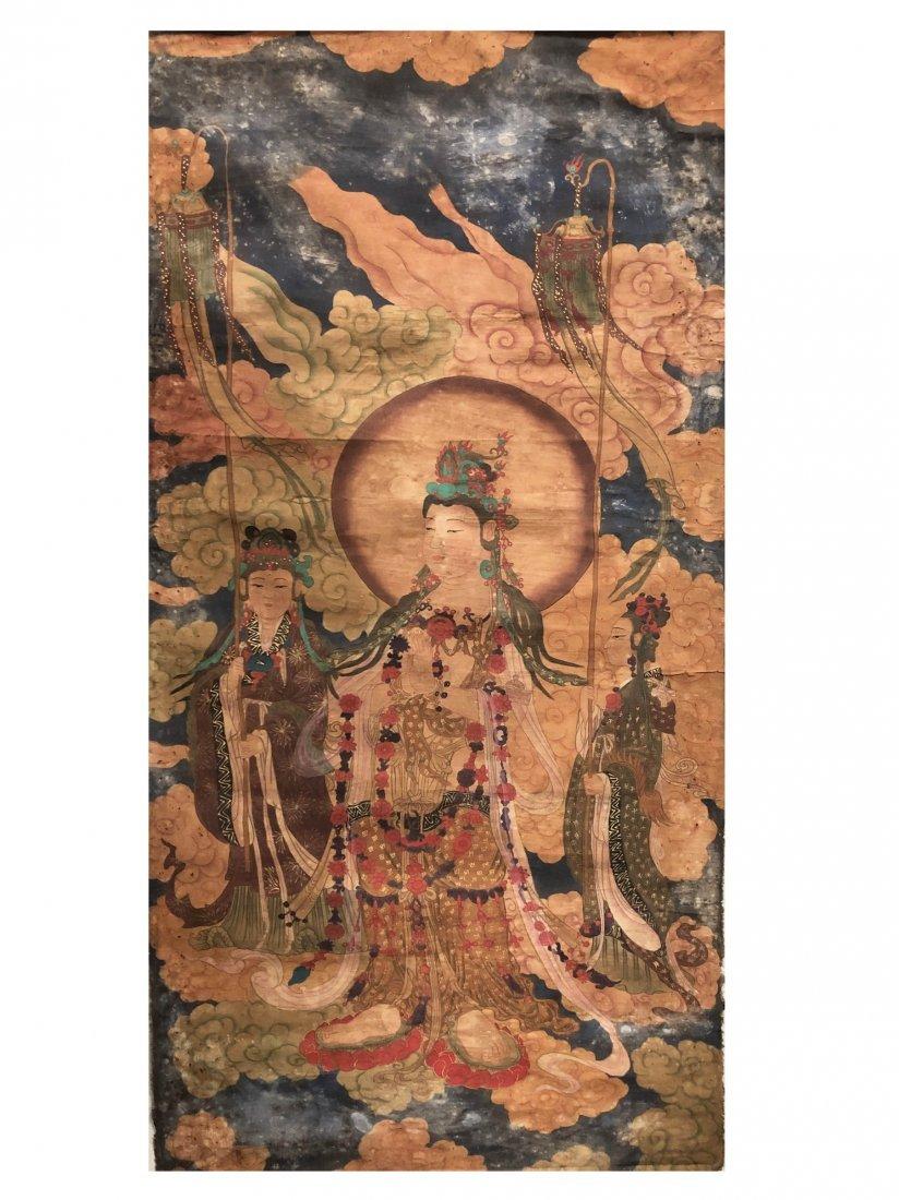 A Chinese Tibetan Thangka