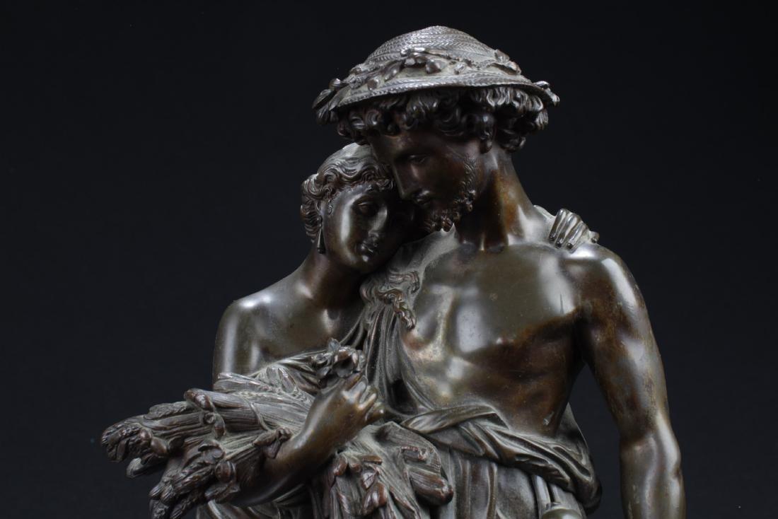 Antique European Style Bronze Statue - 2