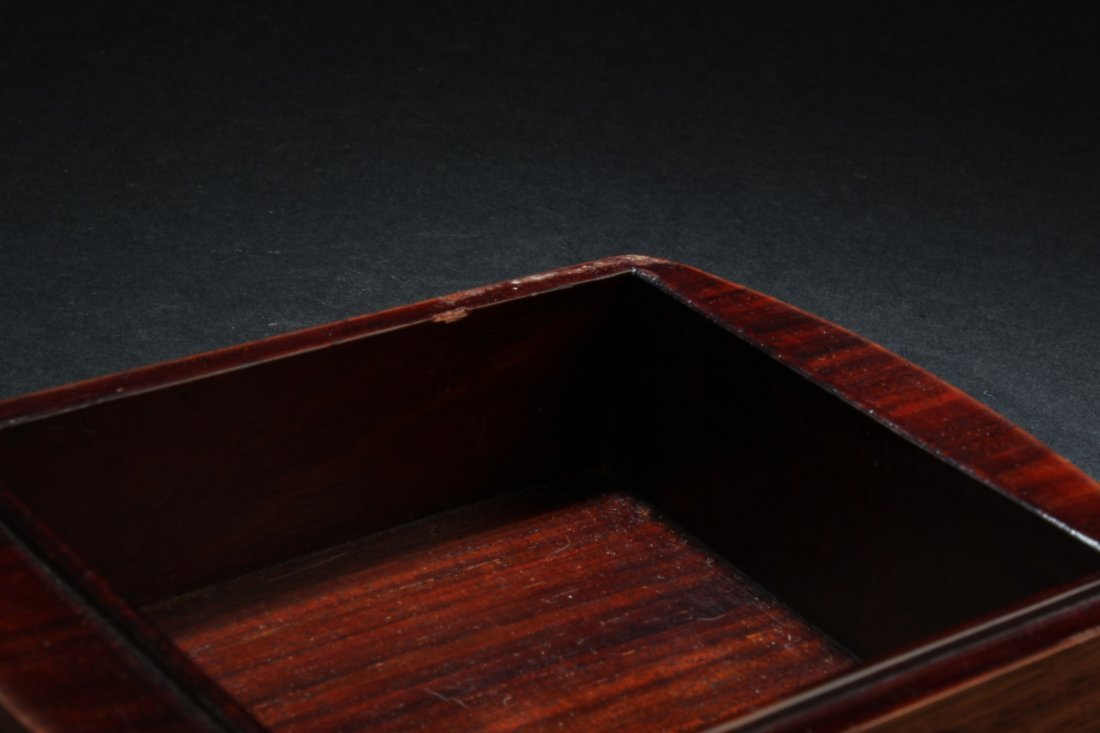 Chinese Hardwood Box with Pearl Inlay - 3