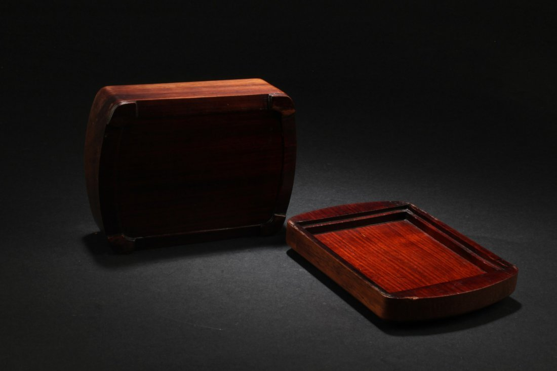 Chinese Hardwood Box with Pearl Inlay - 6