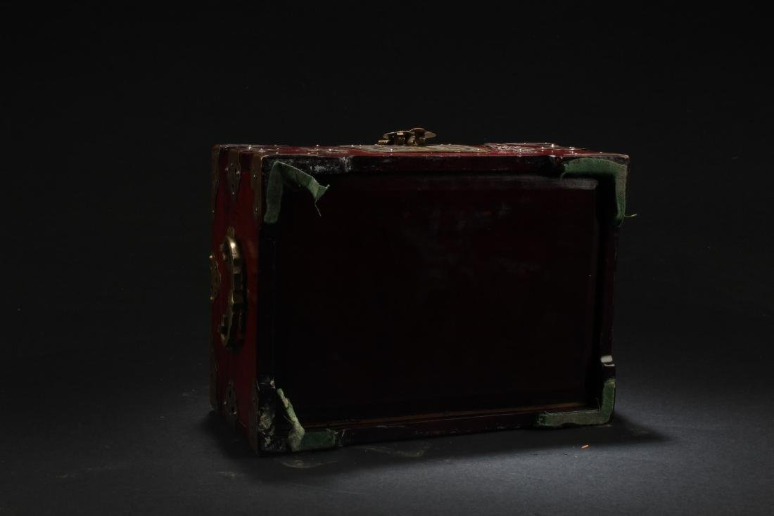 Chinese Hardwood Box with Pearl Inlay - 6