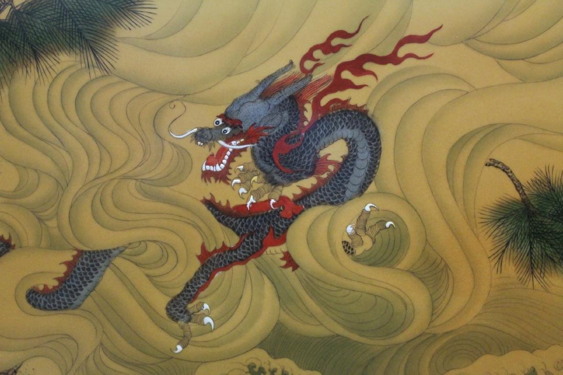 A Large Chinese Hardwood Framed Porcelain Painting - 4