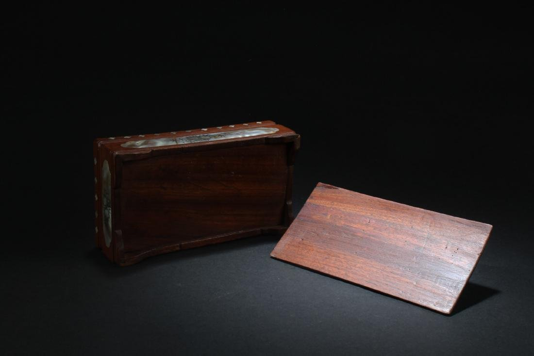 Chinese  Rectangular Shaped Hardwood Box with Mother - 5