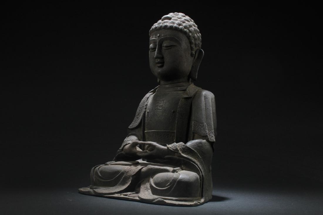 Chinese Bronze Buddha Statue - 2