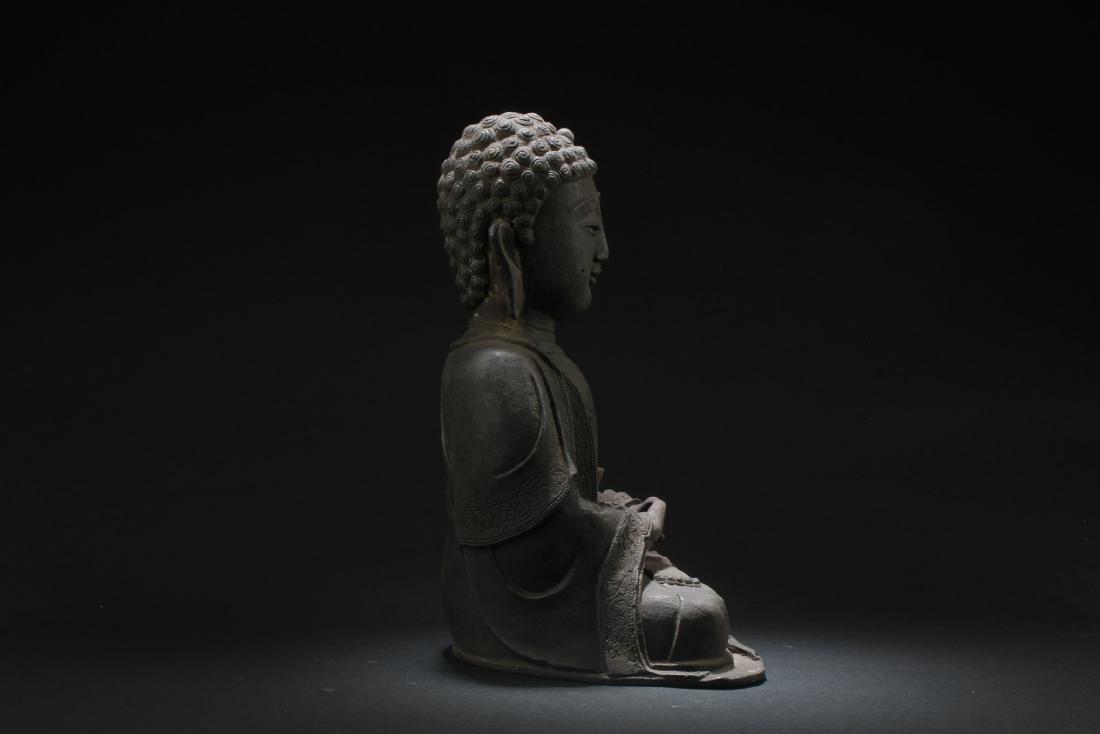 Chinese Bronze Buddha Statue - 4