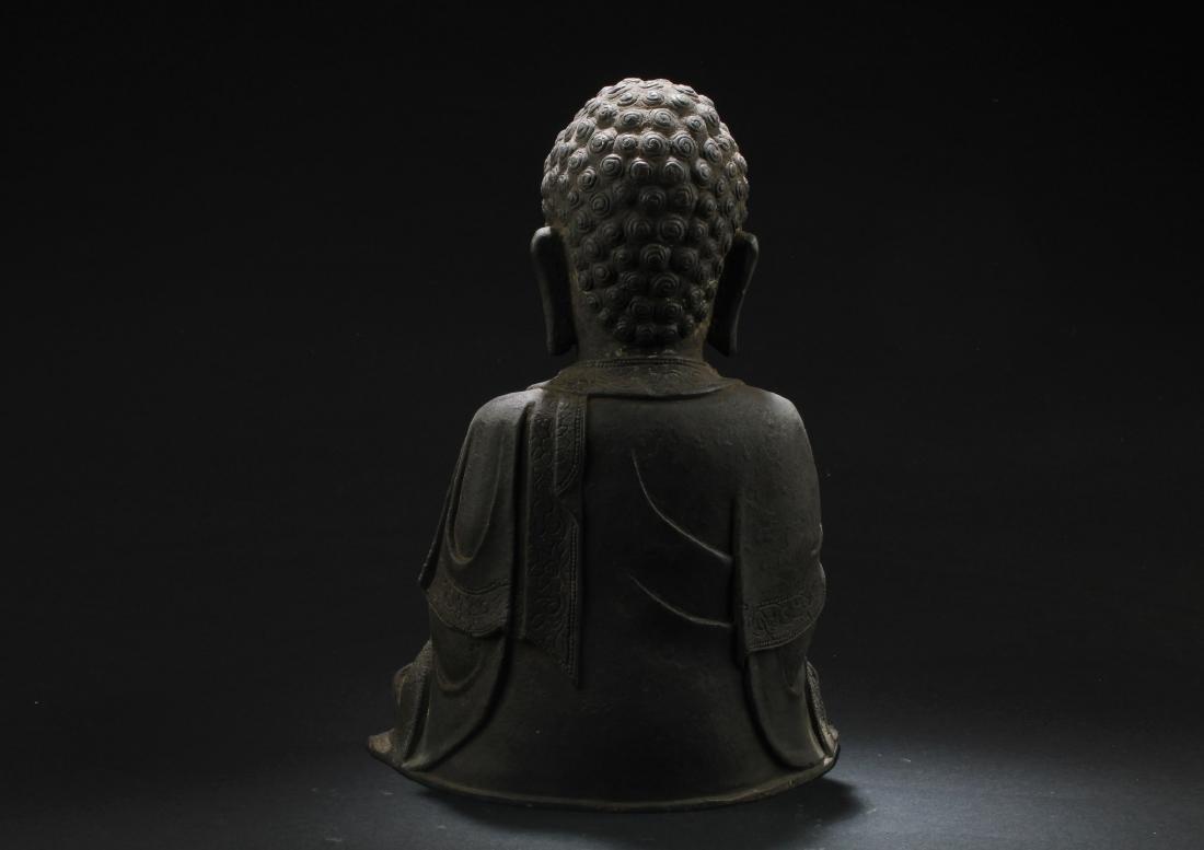 Chinese Bronze Buddha Statue - 5