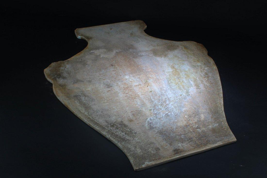 A Vase Shaped Blue & White Porcelain Plague - 6