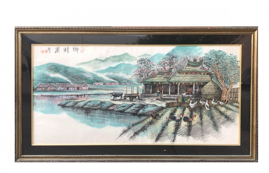 A Framed Embroidery Painting