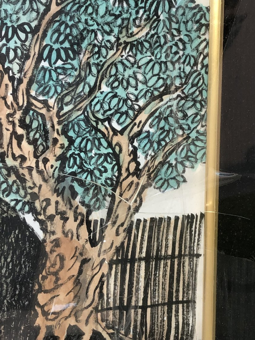 A Framed Embroidery Painting - 6