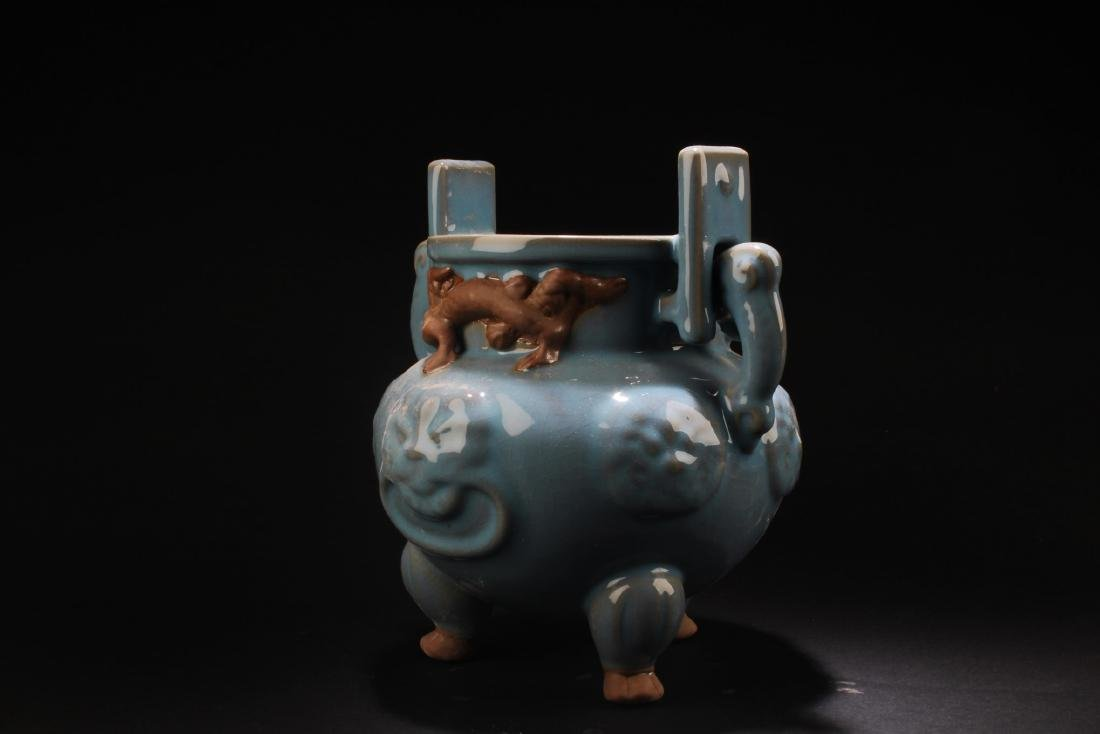 Chinese Porcelain Tripod Censer - 3