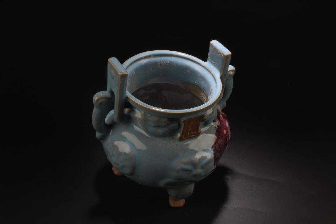 Chinese Porcelain Tripod Censer - 5