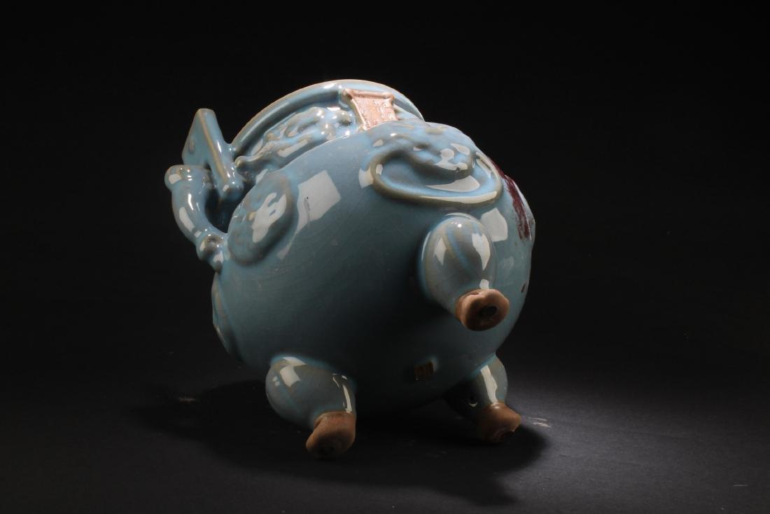 Chinese Porcelain Tripod Censer - 6