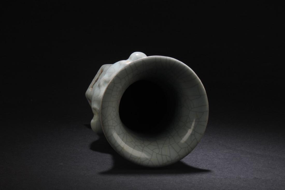Chinese Porcelain Crackleware Vase - 3