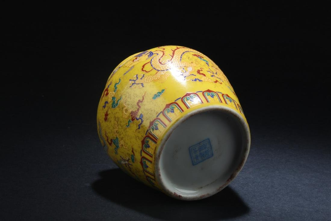 Chinese Famille Jaune Tea Leaves Container - 4
